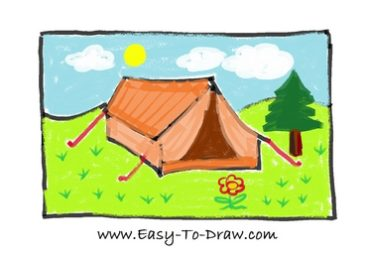 How to draw tent 11