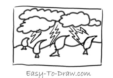 How to draw thunder storm 03