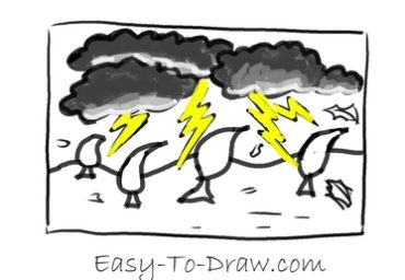 How to draw thunder storm 05