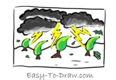 How to draw thunder storm 06