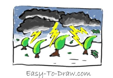 How to draw thunder storm 07