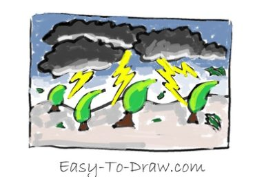 How to draw thunder storm 08