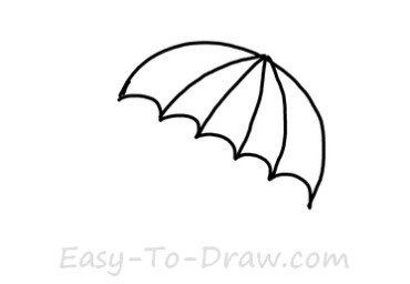 How to draw umbrella 02
