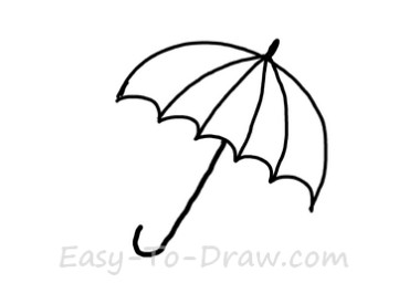 How to draw umbrella 03