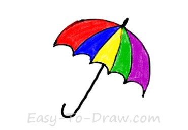 How to draw umbrella 04