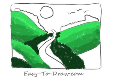 How to draw valley 04