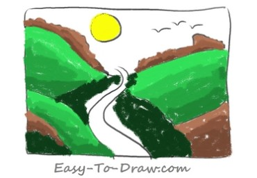 How to draw valley 05