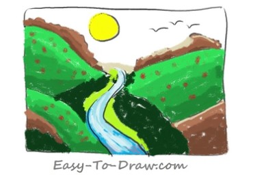 How to draw valley