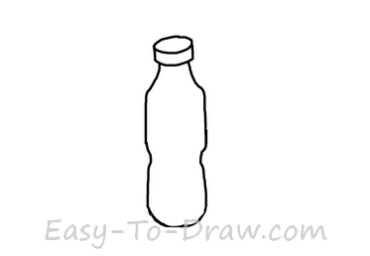 How to draw water bottle 02