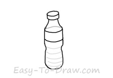 How to Draw a Cartoon Water Bottle for Kids » Easy-To-Draw.com