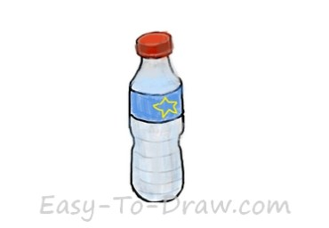 how to draw a wine bottle step by step