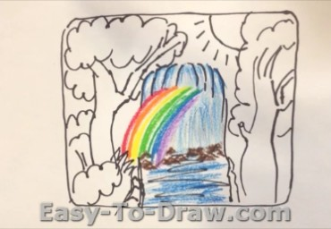 How to draw waterfalls 05