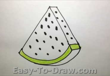 How to draw watermelon 04
