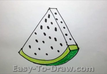 How to draw watermelon 05