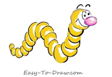 How to draw worm 04