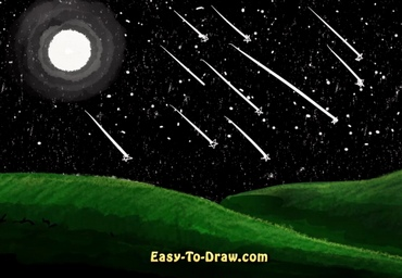 How to draw meteor shower