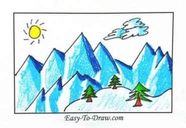 How-to-draw-snow-mountain