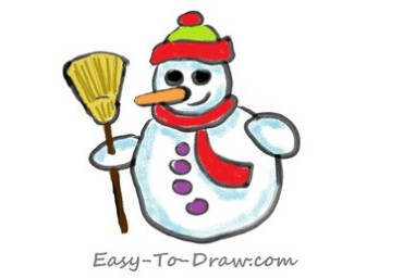How-to-draw-snowman